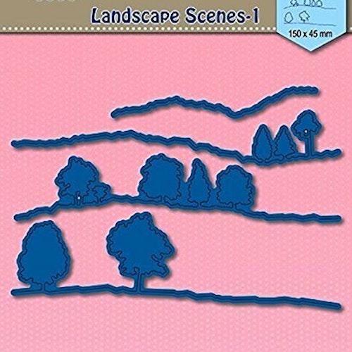 Nellie Snellen Die Blue - Landscape scene 1