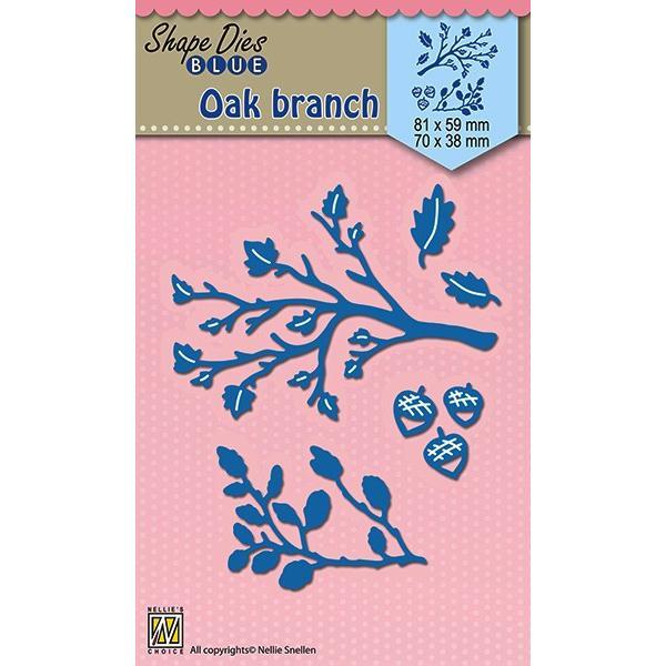 Nellie Snellen Die Blue - oak Branch
