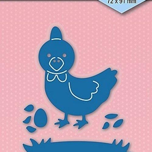 Nellie Snellen Die Blue - Easter chicken