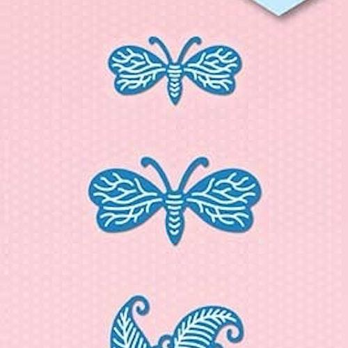 Nellie Snellen Die Blue - Butterflies