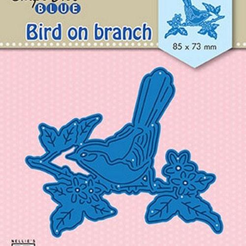 Nellie Snellen Die Blue - Bird on branch