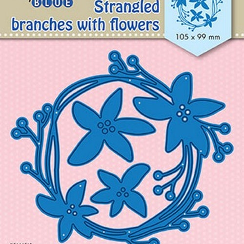 Nellie Snellen Die Blue -  Strangled branches with flowers
