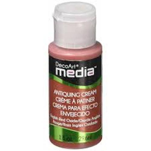 Deco art Antiquing cream, english red oxide