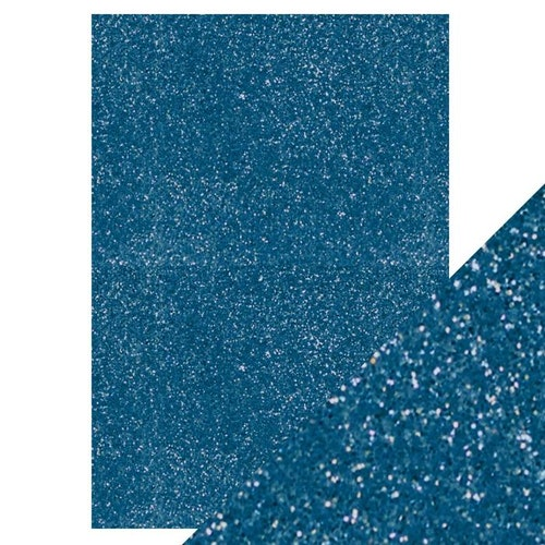 Tonic Studio Glitter Card - Cobalt blue