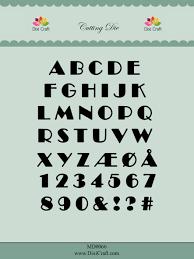 Dixi craft Dies - Alphabet MD0066