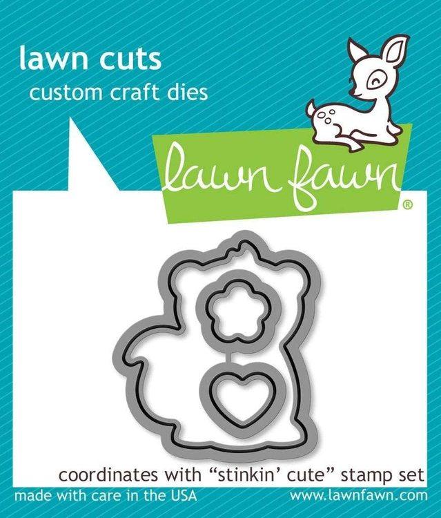 Lawn Fawn stamp + Die - Stinkin' cute