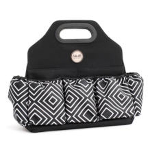 We R Memory Keepers Crafters Tote Bag - Black & White Diamond