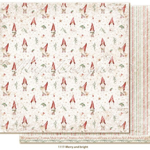 "Maja Design Ark 12x12"" - Traditional Christmas - Merry and bright"