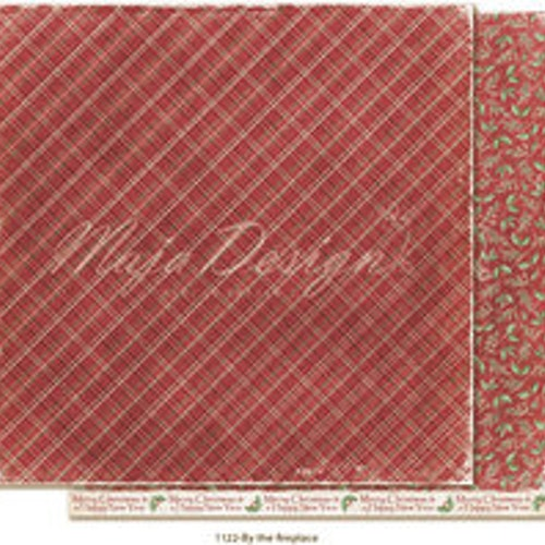 "Maja Design Ark 12x12"" - Traditional Christmas - By the fireplace"