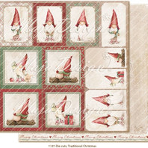 "Maja Design Ark 12x12"" - Traditional Christmas - Die cuts"
