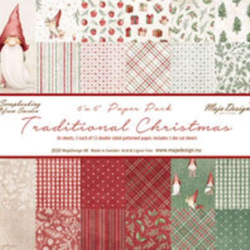 "Maja Design 6""x6"" - Traditional Christmas - Paper Pack"