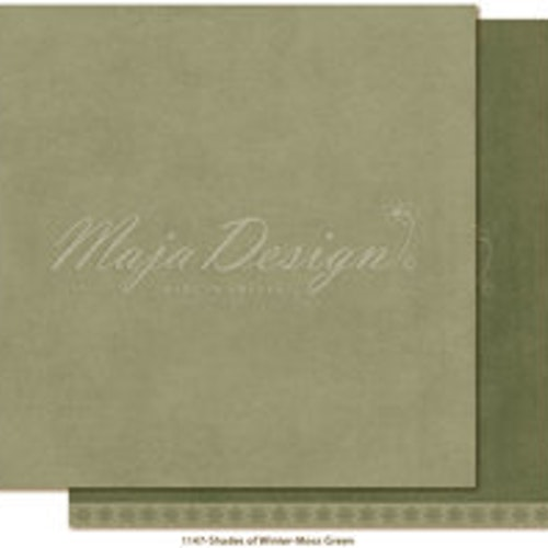 "Maja Design Ark 12x12"" - Monochromes - Shades of Winter - Moss green"