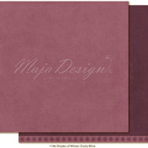 "Maja Design Ark 12x12"" - Monochromes - Shades of Winter - Dusty wine"