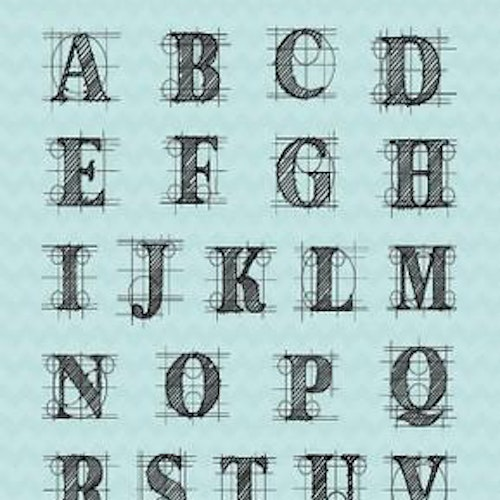 Studio Light Stamps - Alphabet sl204
