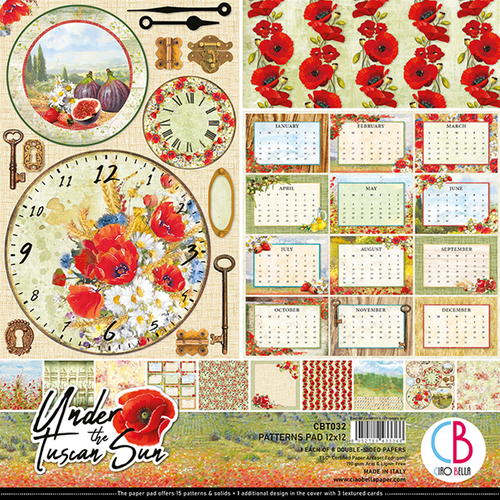 Ciao Bella Patterns Pad 12x12, Under the tuscan sun