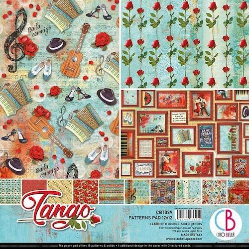Ciao Bella Patterns Pad 12x12, Tango