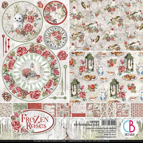 Ciao Bella Patterns Pad 12x12, Frozen roses