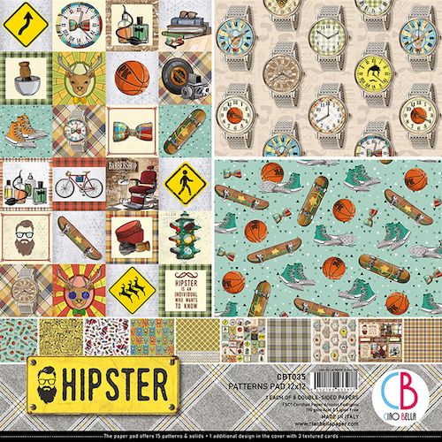 Ciao Bella Patterns Pad 12x12, Hipster