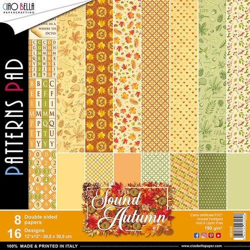 Ciao Bella Patterns Pad 12x12, Sound of autumn