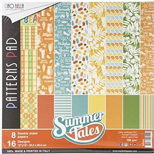 Ciao Bella Patterns Pad 12x12, Summer tales