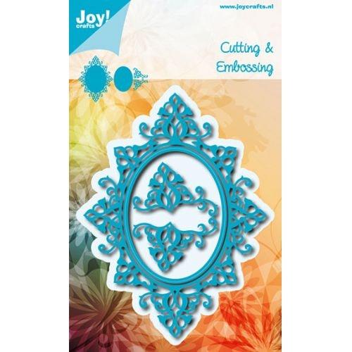 Joy! Die 6002/0639 frame oval and swirls