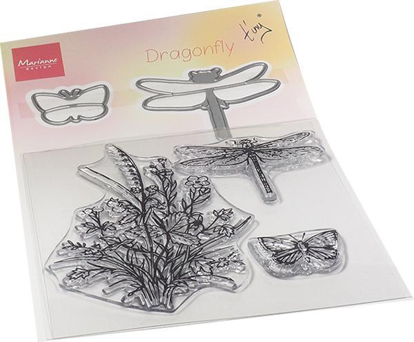 Marianne design, stamp&dies, dragonfliy TC0879