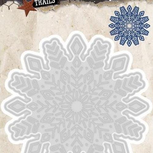 Studio light dies - winter trails snowflake stencilwt103
