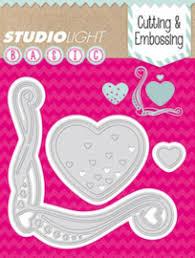 Studio light dies - Basic Dies heart StencilSL29