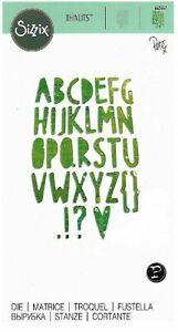 662667 thinlits die -  paper cut alphabet