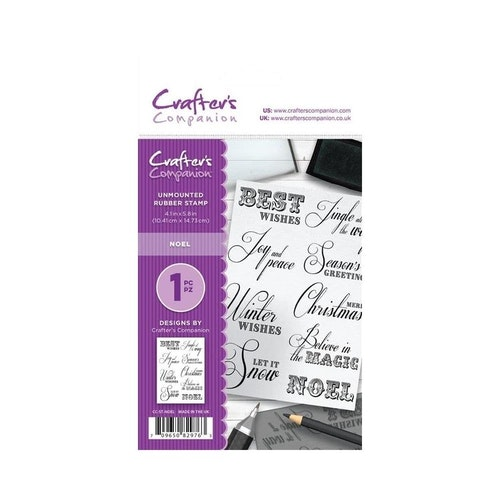 Crafters companion Rubber Stamps - Noel