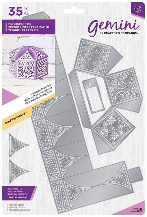 Gemini Die set - Hexagon petal box