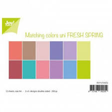 Joy!Crafts, Enfärgat A4 Papper 12st - Fresh Spring
