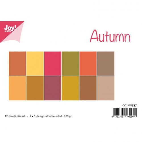 Joy!Crafts, Enfärgat A4 Papper 12st - Autumn