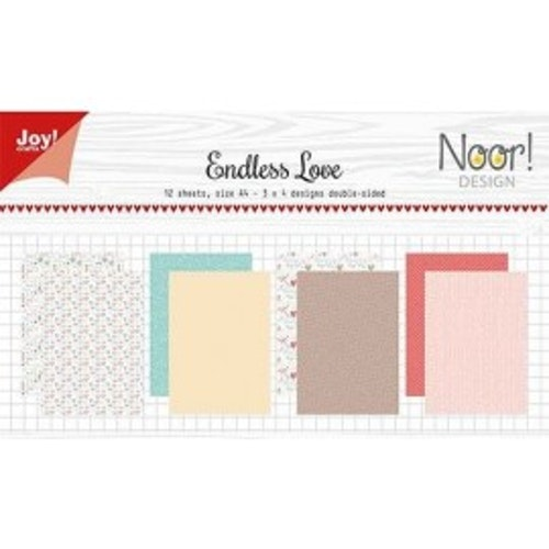 Joy!Crafts, A4 Papper 12st - Endless love