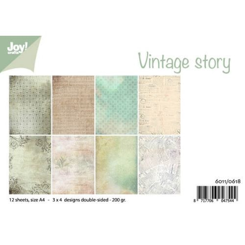 Joy!Crafts, A4 Papper 12st - Vintage story