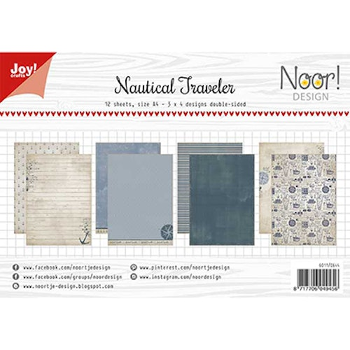 Joy!Crafts, A4 Papper 12st - Nautical traveler