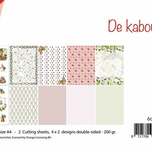 Joy!Crafts, A4 Papper 12st - De cabouter