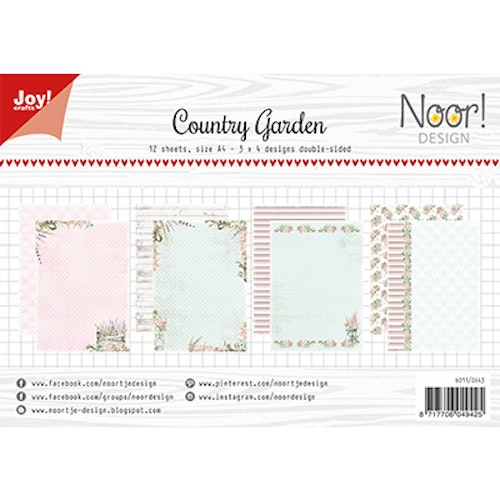 Joy!Crafts, A4 Papper 12st - Country Garden