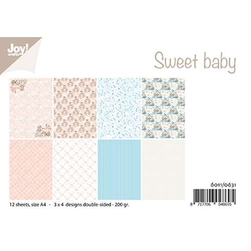 Joy!Crafts, A4 Papper 12st - Sweet baby