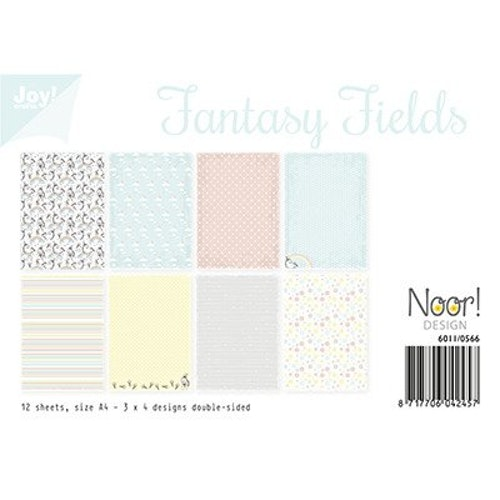 Joy!Crafts, A4 Papper 12st - Fantasy Fields
