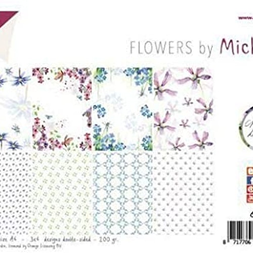 Joy!Crafts, A4 Papper 12st - Flowers by Michelle
