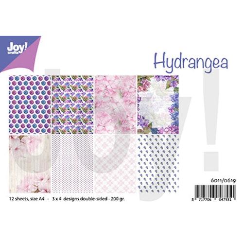 Joy!Crafts, A4 Papper 12st - Hydrangea