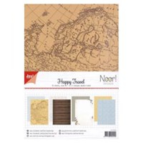Joy!Crafts, A4 Papper 12st - Happy travel