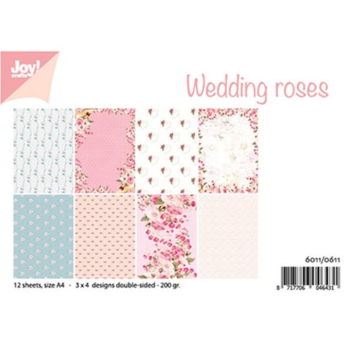 Joy!Crafts, A4 Papper 12st - Wedding roses
