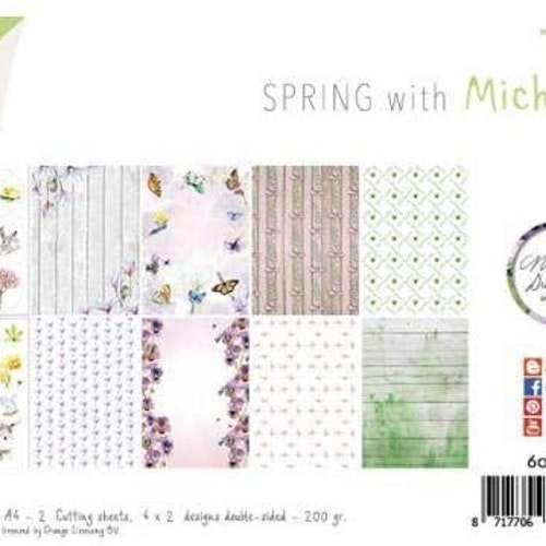 Joy!Crafts, A4 Papper 12st - Spring with Michelle