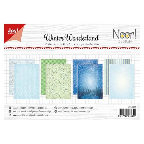 Joy!Crafts, A4 Papper 12st - Winter wonderland