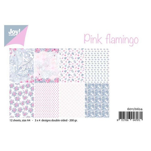 Joy!Crafts, A4 Papper 12st - Pink Flamingo