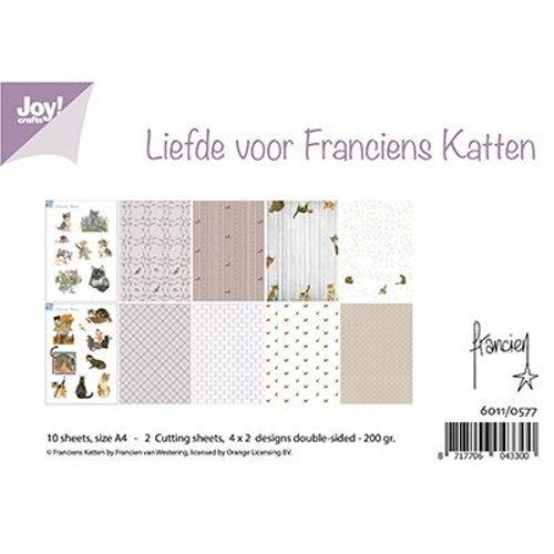 Joy!Crafts, A4 Papper 12st - Franciens Cats 0577