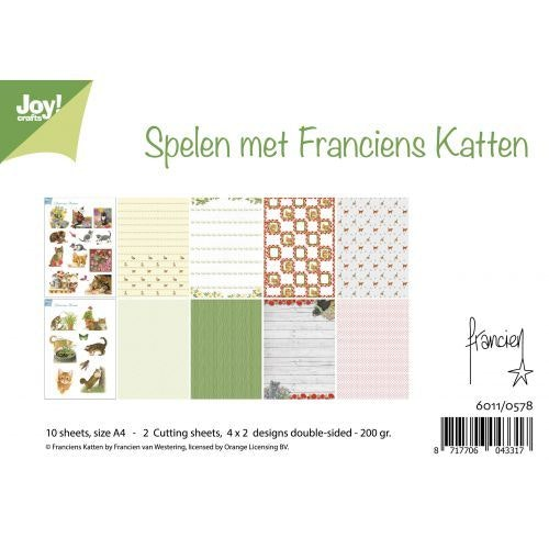 Joy!Crafts, A4 Papper 12st - Franciens Cats 0578