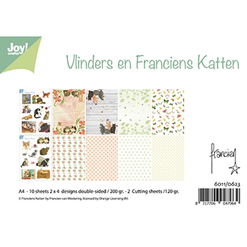 Joy!Crafts, A4 Papper 12st - Franciens Cats 0623